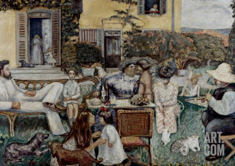 The Terrasse Family, 1900 Stretched Canvas Print