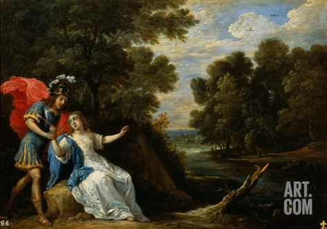 Reconciliation of Rinaldo and Armida Stretched Canvas Print