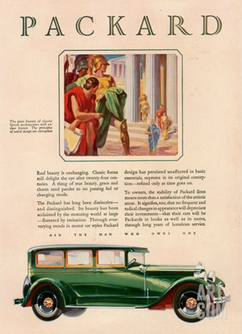 Packard, Magazine Advertisement, USA, 1929 Stretched Canvas Print