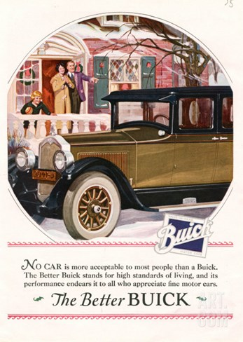 Buick, Magazine Advertisement, USA, 1925 Stretched Canvas Print