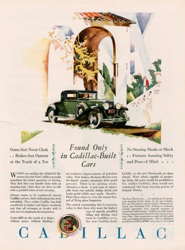 Cadillac, Magazine Advertisement, USA, 1928 Stretched Canvas Print