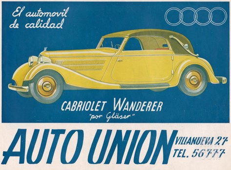 Auto Union Audi, Magazine Advertisement, USA, 1930 Stretched Canvas Print