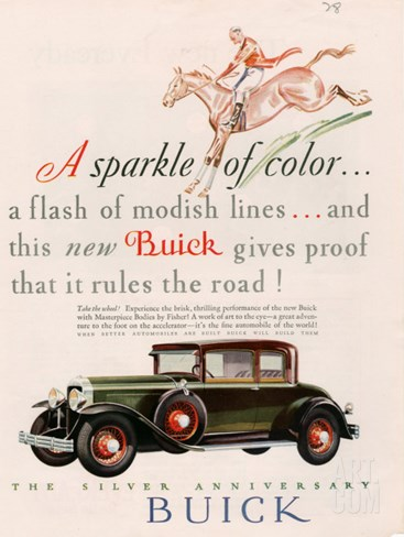 Buick, Magazine Advertisement, USA, 1928 Stretched Canvas Print