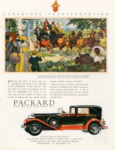 Packard, Magazine Advertisement, USA, 1930 Stretched Canvas Print