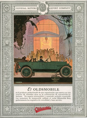 Oldsmobile, Magazine Advertisement, USA, 1920 Stretched Canvas Print