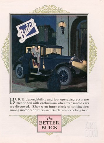 Buick, Magazine Advertisement, USA, 1926 Stretched Canvas Print