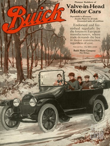 Buick Division of General Motors, Magazine Advertisement, USA, 1910 Stretched Canvas Print