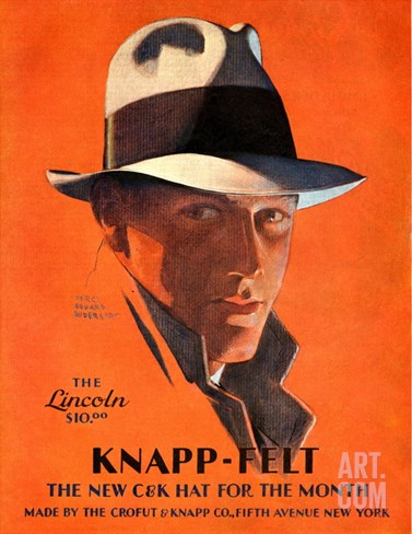 Knapp-Felt, Magazine Advertisement, USA, 1920 Stretched Canvas Print