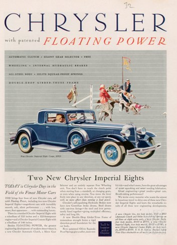 Chrysler, Magazine Advertisement, USA, 1932 Stretched Canvas Print