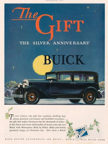 Buick, Magazine Advertisement, USA, 1928 Stretched Canvas Print