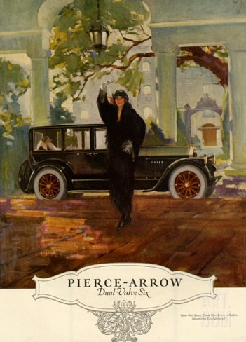 Pierce-Arrow, Magazine Advertisement, USA, 1920 Stretched Canvas Print