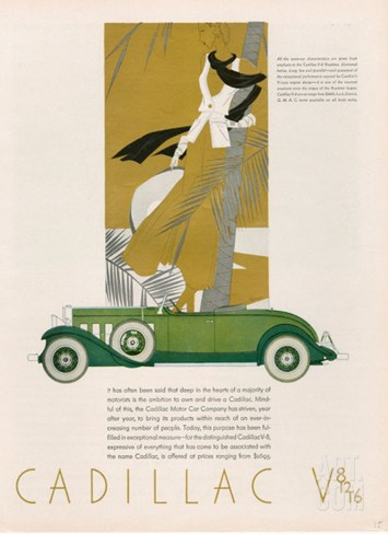 Cadillac, Magazine Advertisement, USA, 1931 Stretched Canvas Print