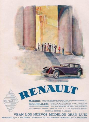 Renault, Magazine Advertisement, USA, 1930 Stretched Canvas Print