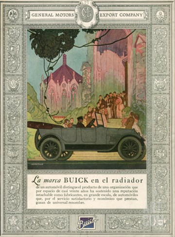 Buick, Magazine Advertisement, USA, 1920 Stretched Canvas Print