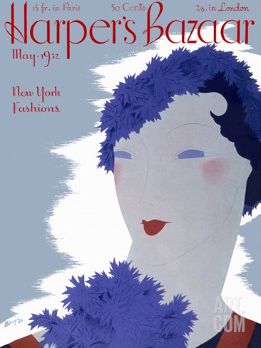 Harper's Bazaar, May 1932 Stretched Canvas Print