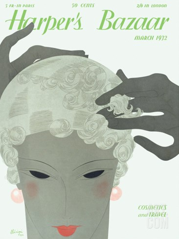 Harper's Bazaar, March 1932 Stretched Canvas Print