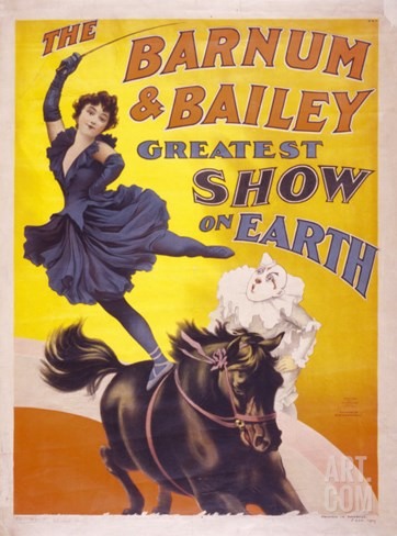 The Barnum & Bailey Greatest Show on Earth, Usa, 1895 Stretched Canvas Print
