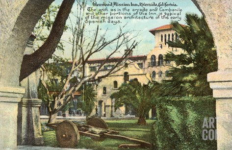 Glenwood Mission Inn, Riverside, California Stretched Canvas Print