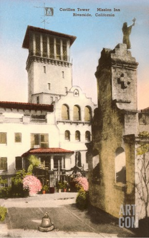 Carillon Tower, Mission Inn, Riverside, California Stretched Canvas Print