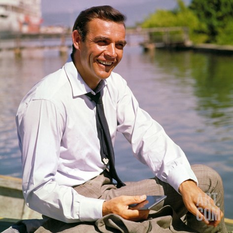 Dr. No, Sean Connery, 1962 Stretched Canvas Print