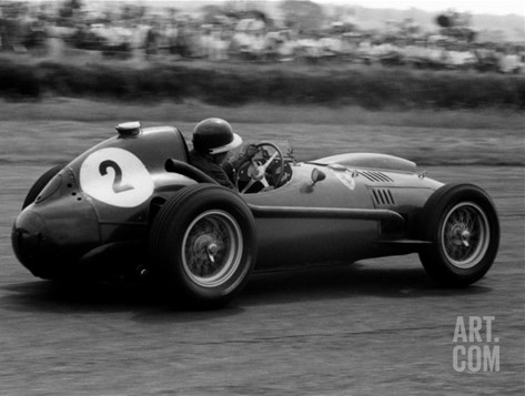 Mike Hawthorn in Ferrari, 1958 British Grand Prix Stretched Canvas Print
