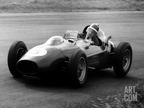 Mike Hawthorn in Ferrari, 1958 Dutch Grand Prix Stretched Canvas Print