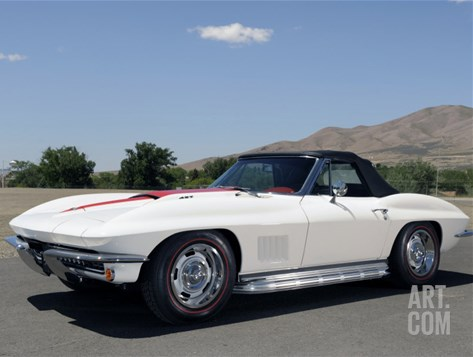 1967 Chevrolet Corvette CV 427 Stretched Canvas Print