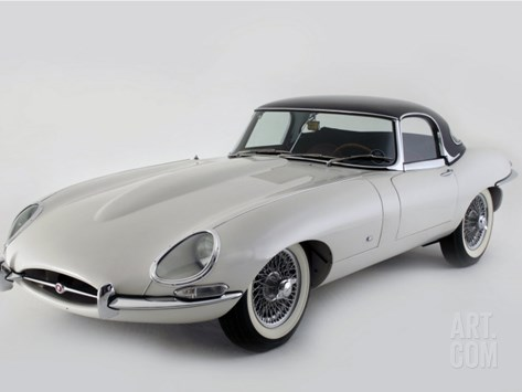 1962 Jaguar E type Stretched Canvas Print