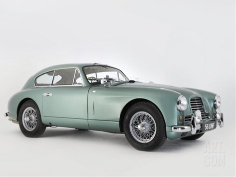 1956 Aston Martin DB2-4 Stretched Canvas Print