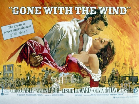 Gone with the Wind, Clark Gable, Vivien Leigh, 1939 Stretched Canvas Print
