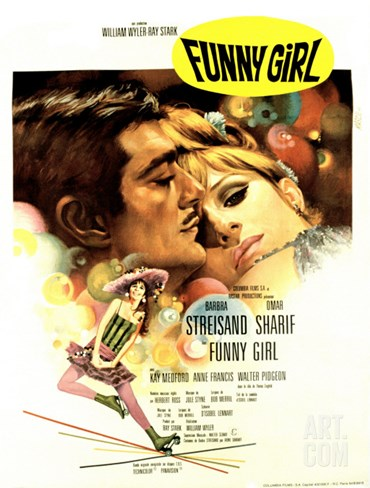 Funny Girl, Omar Sharif, Barbra Streisand, 1968 Stretched Canvas Print