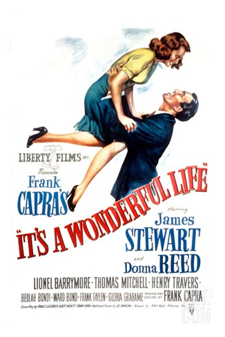 It's a Wonderful Life, Donna Reed, James Stewart, 1946 Stretched Canvas Print