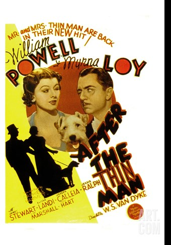 After the Thin Man, Myrna Loy, Asta, William Powell, 1936 Stretched Canvas Print