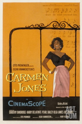 Carmen Jones, Dorothy Dandridge, 1954 Stretched Canvas Print