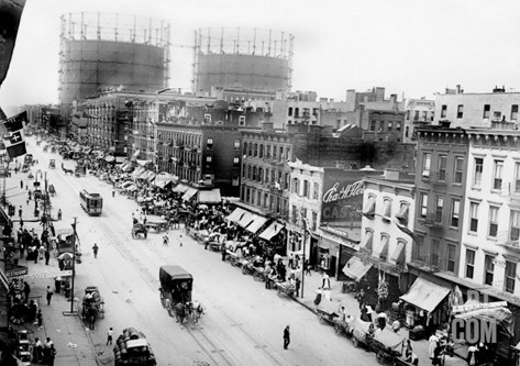 New York City, Festival in Little Italy, First Avenue, 1900s Stretched Canvas Print