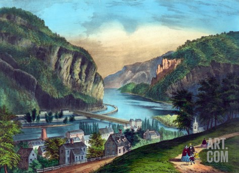 Harper's Ferry, Virginia Stretched Canvas Print