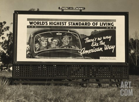 National Association of Manufacturers Billboard Campaigns Against New Deal Policies, 1937 Stretched Canvas Print