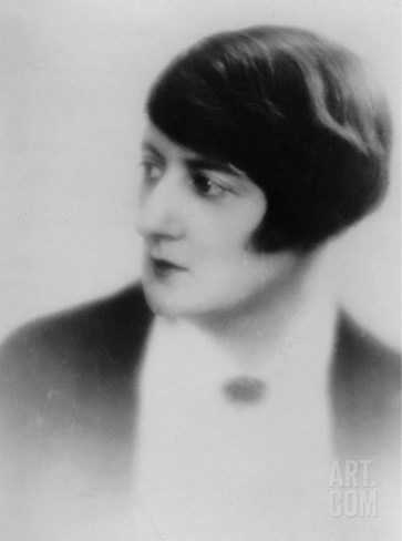 Germaine Beaumont, a Journalist and a French Novelist, Influenced by Virginia Woolf and Collette Stretched Canvas Print