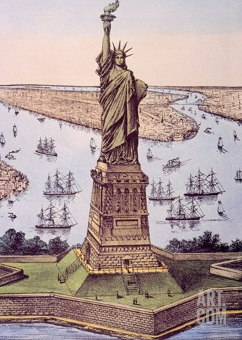 The Statue of Liberty, 1885 Stretched Canvas Print