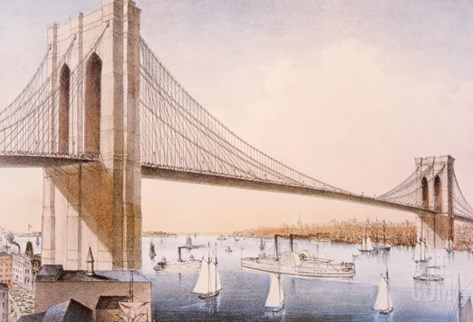 The Brooklyn Bridge Stretched Canvas Print