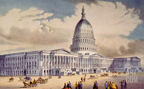 The United States Capitol in Washington D.C. Stretched Canvas Print