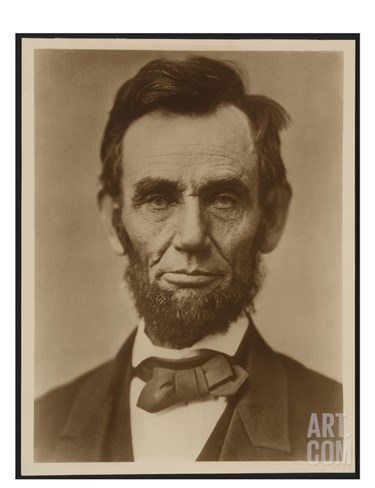 Abraham Lincoln in the Classic Portrait by Alexander Gardner of November 15, 1863 Stretched Canvas Print