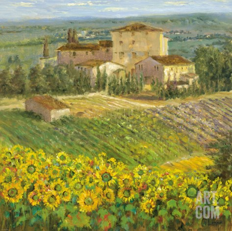 Provencal Village III Stretched Canvas Print