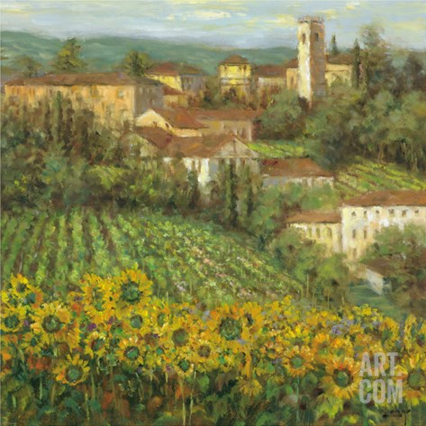 Provencal Village IV Stretched Canvas Print