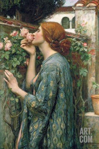 The Soul of the Rose, 1908 Stretched Canvas Print