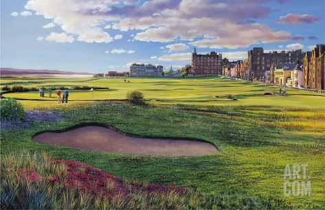 St Andrews Stretched Canvas Print
