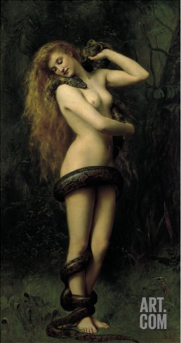 Lilith Stretched Canvas Print