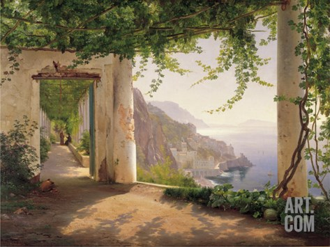 Amalfi Cappuccini Stretched Canvas Print