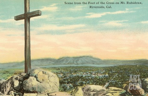 Serra Cross, Rubidoux, Riverside, California Stretched Canvas Print