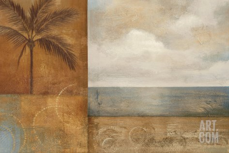 Golden Paradise I Stretched Canvas Print